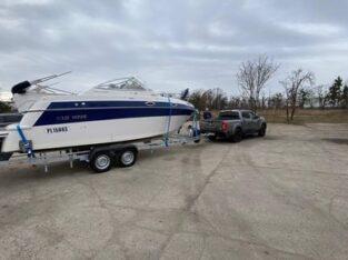 Transport łodzi, jachtów, różnych przyczep.