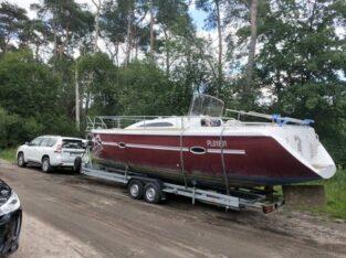 Transport jachtów – łodzi – naprawy – zimowanie duży plac