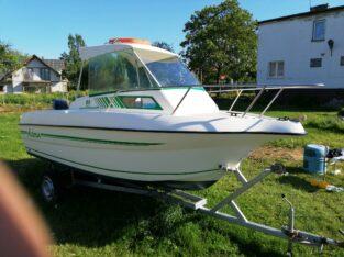 Jacht, łódź motorowa kabina + silnik 50 km 4-sów, wtrysk + p
